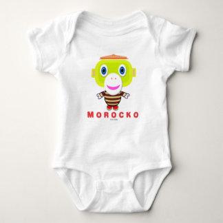 Morockoかわいい猿 ベビーボディスーツ