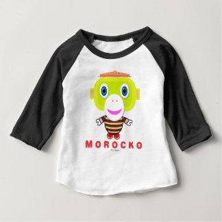 Morockoかわいい猿 ベビーTシャツ