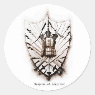 Morolandのステッカーの武器 ラウンドシール