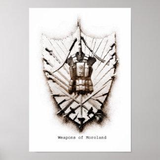 Morolandのプリントの武器 ポスター