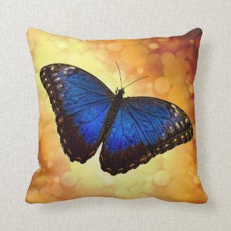 Morphoの青い蝶 クッション
