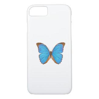 Morphoの青い蝶(Menelaus青いMorphoは、変形させます iPhone 8/7ケース