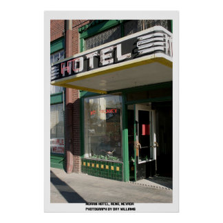 Morrisのホテル、レノ、ネバダ ポスター