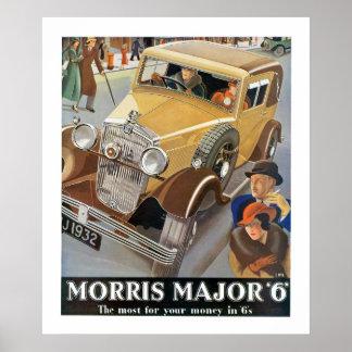 Morrisの専攻学生「6'自動車広告 ポスター