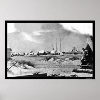 Morrisの島、SC 1863年の軍キャンプ ポスター