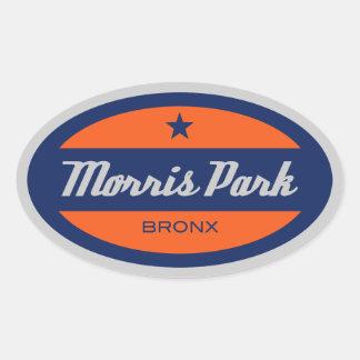 Morris公園 楕円形シール