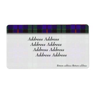 Morrisonの一族の格子縞のスコットランド人のタータンチェック ラベル