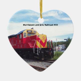 Morristownおよびエリーの鉄道エンジン#22のオーナメント セラミックオーナメント