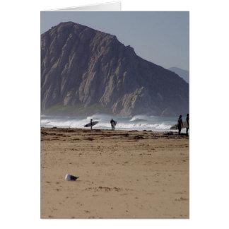 Morroの石はサーファーを浜に引き上げます カード