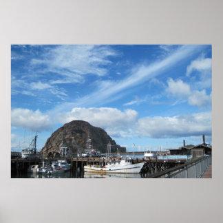 Morroの石、漁船およびEmbarcadero ポスター