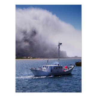 Morro湾、カリフォルニアのタグボート ポスター