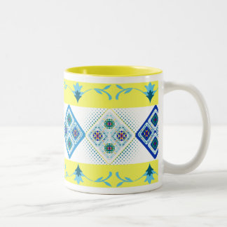 Morroccanのタイルのマグ03 ツートーンマグカップ