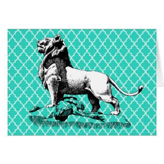 morroccoのライオン カード