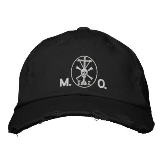 MortisとOrationis (M.O.)の記号 刺繍入りキャップ