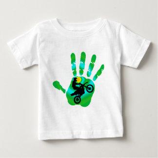 Motoの緑色航法燈 ベビーTシャツ