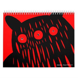 Motomichi Nakamura著2013年のモンスターのカレンダー カレンダー