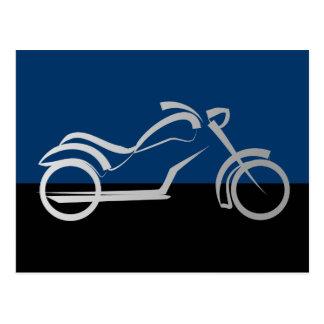 motorcyleのモーターバイクのバイクのバイクもしくは自転車に乗る人 ポストカード