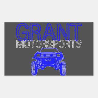 Motorsportのステッカー 長方形シール