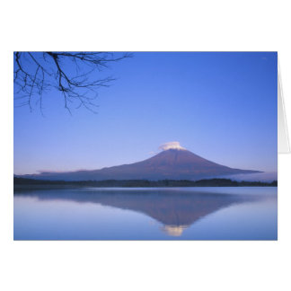 Motosu湖、山梨、日本からの富士山 カード