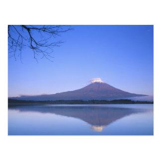 Motosu湖、山梨、日本からの富士山 葉書き