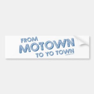 MotownからYoの町への バンパーステッカー
