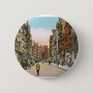 Mottの通り、中華街、ニューヨークシティ(ヴィンテージ) 缶バッジ