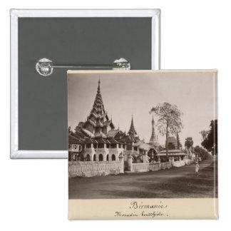 MoulmeinのWayzayandaの修道院そして塔 5.1cm 正方形バッジ