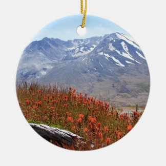 Mount Saint Helensの野生の花 セラミックオーナメント