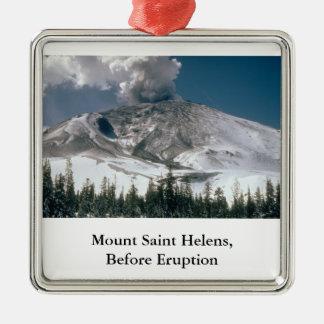 Mount Saint Helens -前噴火 メタルオーナメント