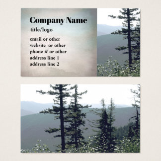mountain pine trees business cards photo art 名刺