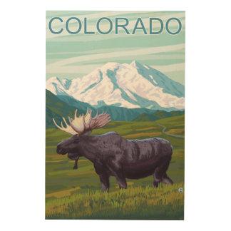 MountainColoradoのアメリカヘラジカ ウッドウォールアート