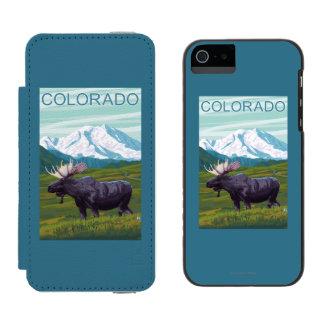 MountainColoradoのアメリカヘラジカ iPhone SE/5/5sウォレットケース