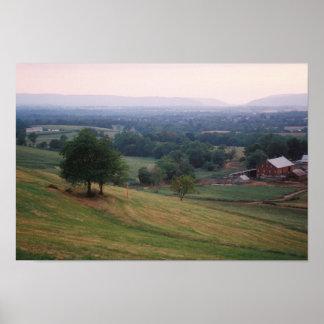 Mountvilleのパス、Middletownの谷、MD (小さい) ポスター