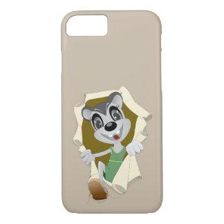Mouseholeの電話場合の灰色の幸せなマウス iPhone 8/7ケース