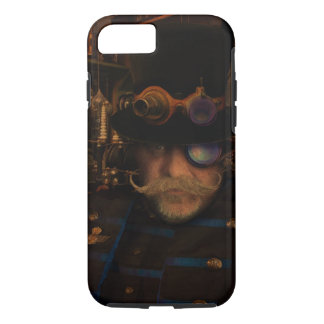 Moustache Brass Goggles Steampunkの大尉のシルクハット iPhone 8/7ケース