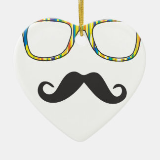 Moustache Hipster氏 セラミックオーナメント