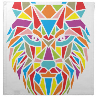 mozaicオオカミ ナプキンクロス