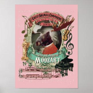 Mozart Spoof Parody Moozart Funny Moose Composer ポスター