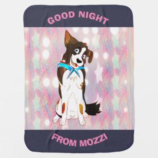 Mozziからのおやすみなさいの女の子 ベビー ブランケット