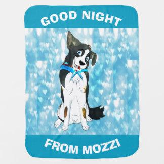 Mozziからのおやすみなさいの男の子 ベビー ブランケット