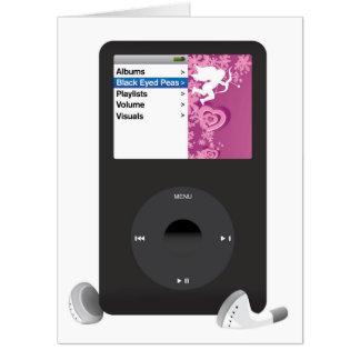 MP3プレーヤーの巨大なバレンタインデーカード カード
