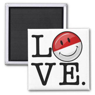 Mpnacoの微笑の旗からの愛 マグネット