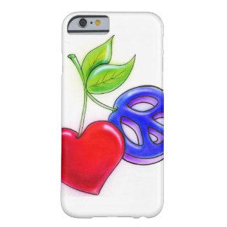 MpressArtの平和かハートのフルーツのiPhone6ケース Barely There iPhone 6 ケース