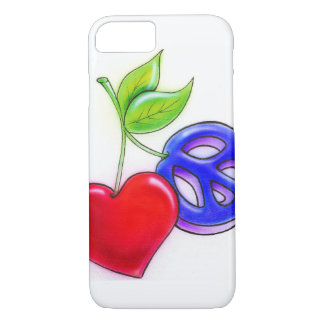 MpressArtの平和またはハートのフルーツのiPhone 7の場合 iPhone 8/7ケース