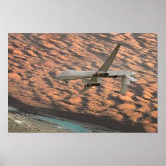 MQ-1捕食動物の無人の航空機の無人機 ポスター