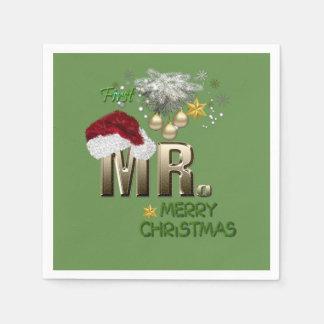 MR.Firstのクリスマス スタンダードカクテルナプキン