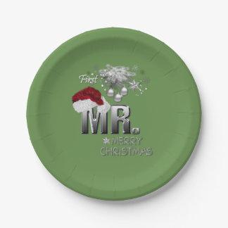 MR.Firstのクリスマス ペーパープレート