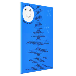 "Mr. Moon, Mr. Moon Children's Poem 40"" x 60"" キャンバスプリント"