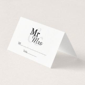 Mr&Mrsのシンプルでエレガントな結婚式 プレイスカード