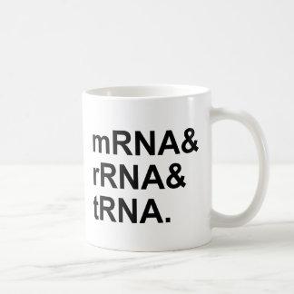 mRNAのrRNAのtRNA |のタイプのRNA コーヒーマグカップ